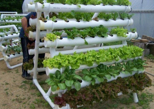 how to diy pvc pipes homemade hydroponic garden system. Black Bedroom Furniture Sets. Home Design Ideas